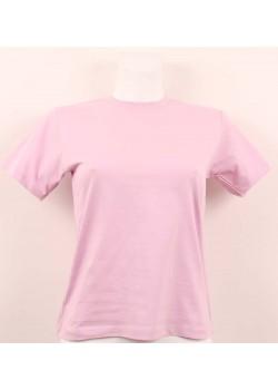 T-shirt femme violet col style en rond