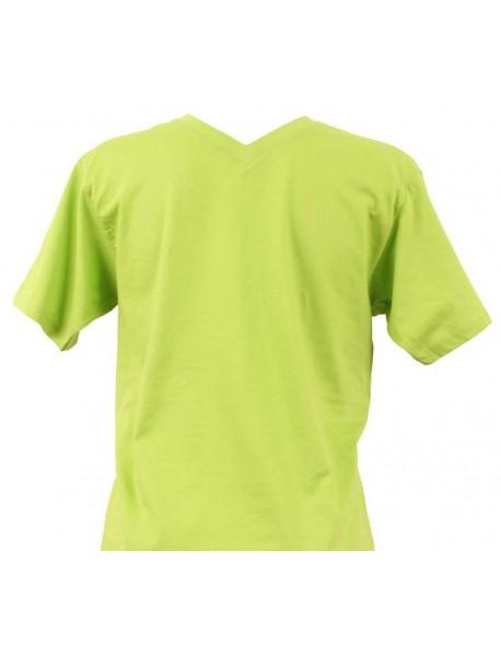 T-shirt homme vert col V