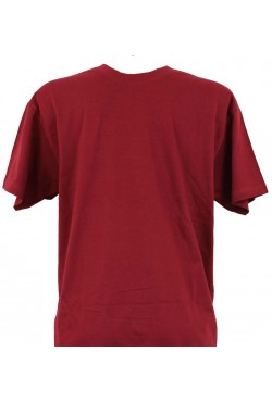 T-shirt homme bordeaux col rond