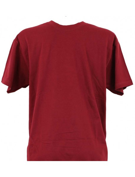 T-shirt homme prune col rond