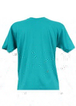 T-shirt homme turquoise col rond