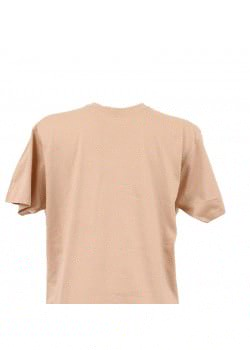 T-shirt homme beige col rond