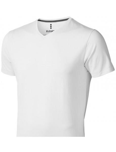 T-shirt homme blanc col V