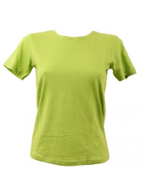 T-shirt femme vert col rond