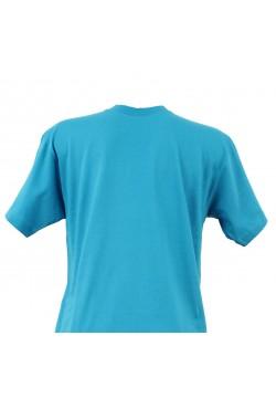 T-shirt homme bleu col rond
