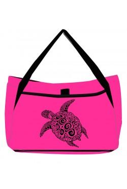 Sac de plage Fuschia Turtle