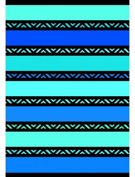Drap de plage xl Twisty Blue