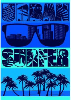 Drap de plage Taille XL urban Surfeur