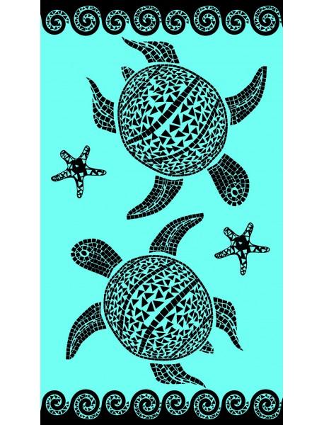 Serviette de plage Mosaic turtle