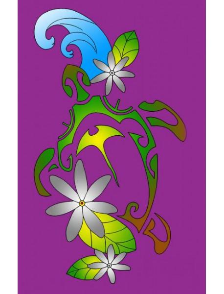 Paréo Polynésien VT 53 Purple