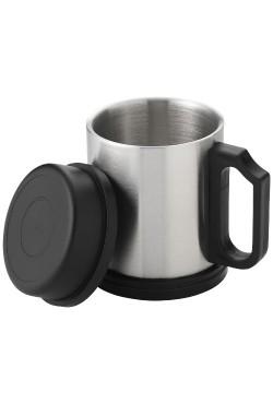Mug Isotherme Barstow Argent Noir