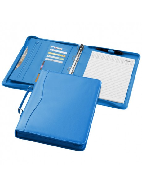 Serviette Classeur Zippé A4 Ebony Aqua Blue