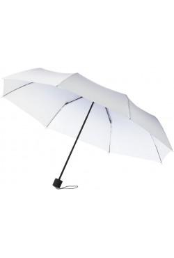 """Parapluie 2 sections de 21,5"""", blanc / violet"""