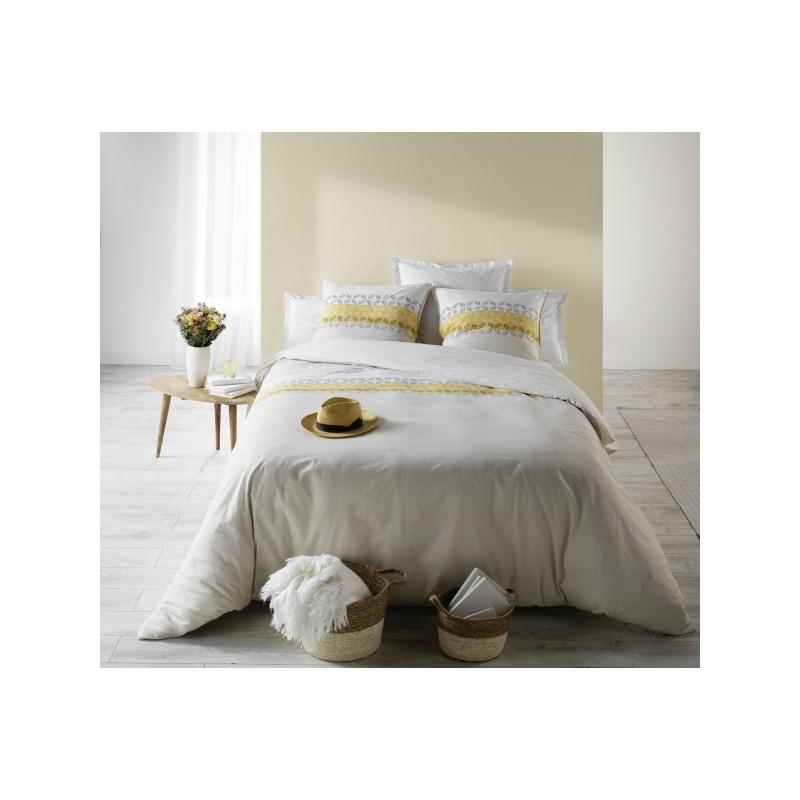 housse de couette taie sofia jaune. Black Bedroom Furniture Sets. Home Design Ideas