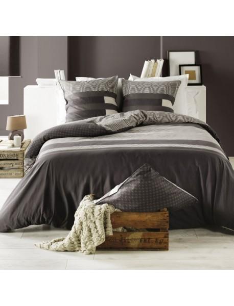 housse de couette taie kea taupe. Black Bedroom Furniture Sets. Home Design Ideas