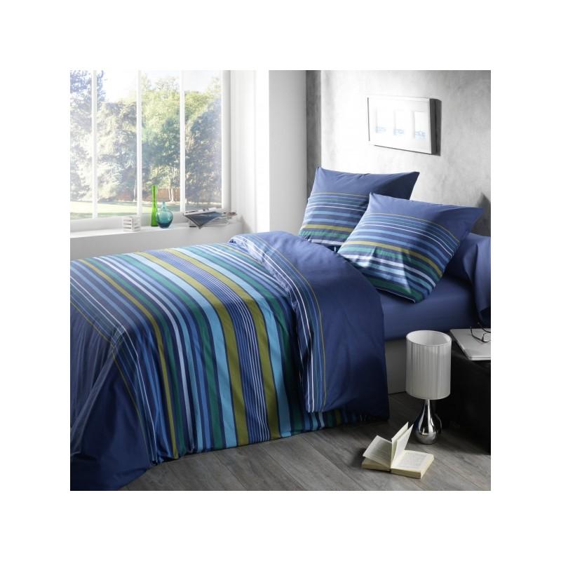 housse de couette taie dandy bleu. Black Bedroom Furniture Sets. Home Design Ideas