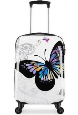 Valise Cabine 55cm Papillon White
