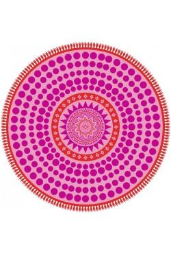 Serviette ronde Microfibre Mandala
