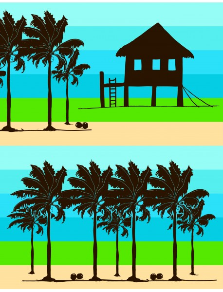 Drap de plage XXL Cabana