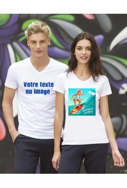 T-shirt Personnalisé Col V
