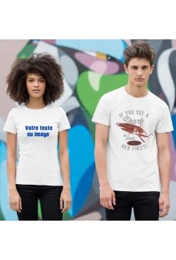 T-shirt Personnalisé Col Rond
