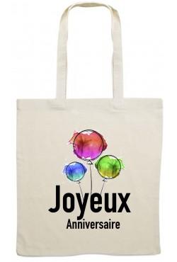 Tote Bag joyeux Anniversaire