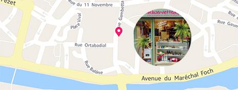 Plan d'accès au magasin laserviettedeplage.fr